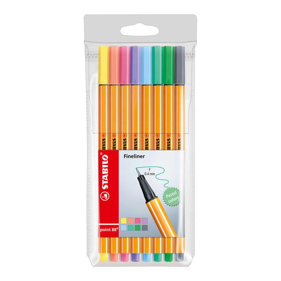 Stabilo Pen 88 Wallet Set of 8 Pastel Colors