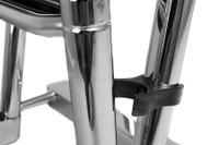 4 Step Folding Telescoping Ladder for Pontoon Boats - Stainless Steel