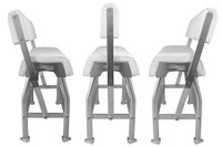 """The swing back feature lets you smoothly """"flip"""" the back rest from one side to the other for forward or rear facing convenience."""