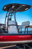SG600 T-Top for Center Console Boats - Powder Coated Black