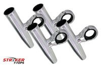 4 Single Fishing Rod Holders - Anodized