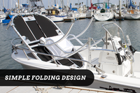 SG600 T-Top for Center Console Boats - Powder Coated White