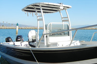 SG300 T-Top for Center Console Boats - Powder Coated White
