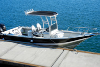 Powder coated white SG300 t-top installed on customer boat