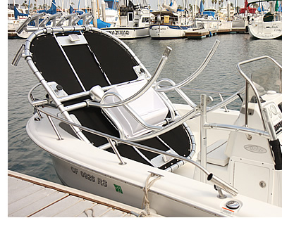 What a folding boat t-top looks like