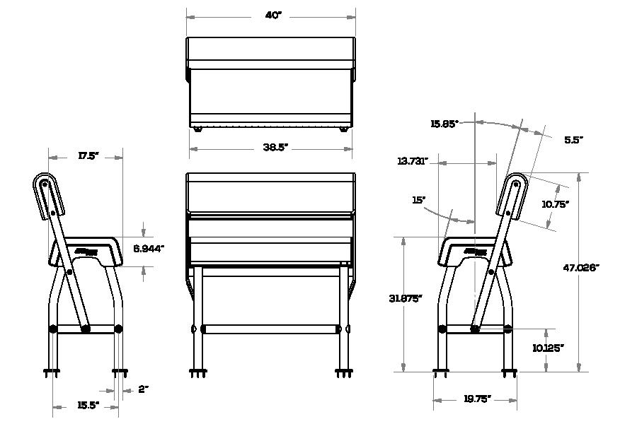 Boat leaning post measurements
