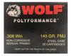 WOLF .308 WIN 145 GRAIN FMJ