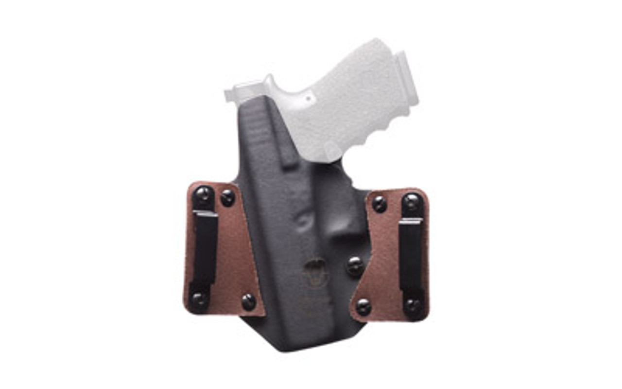 Black Point Tactical Leather Wing OWB Holster, Fits Glock 19/23/32, Right  Hand, Coyote Kydex & Chocolate Leather, with 1 75