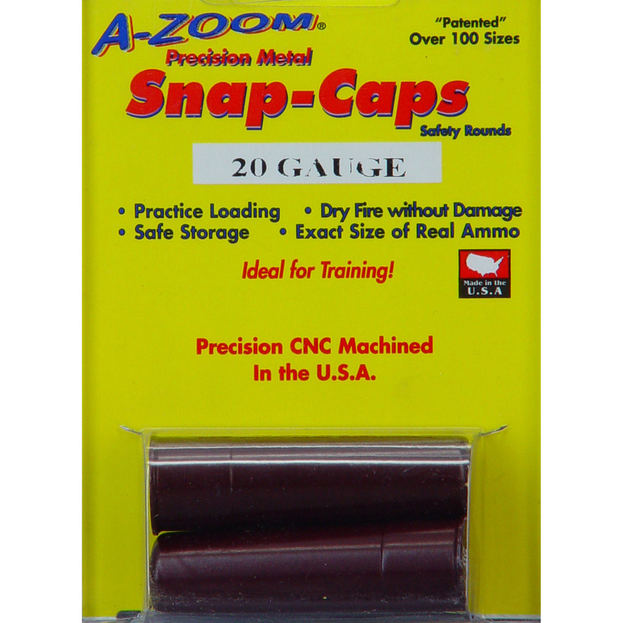 A-Zoom Snap Caps, 20 Gauge, 2 Pack 12213, UPC :666692122132