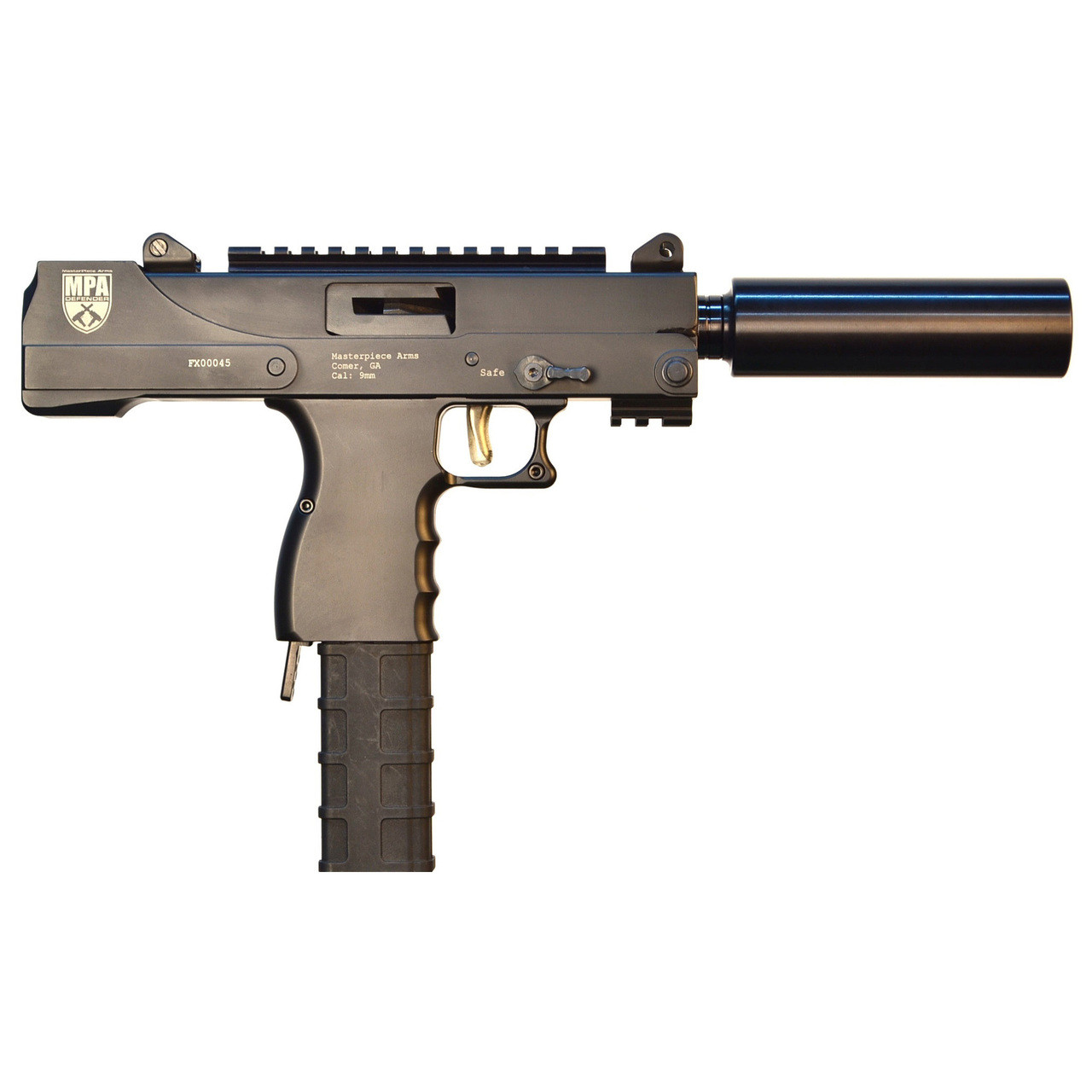 MasterPiece Arms 30T, Semi-automatic Defender Pistol, 9MM, 6