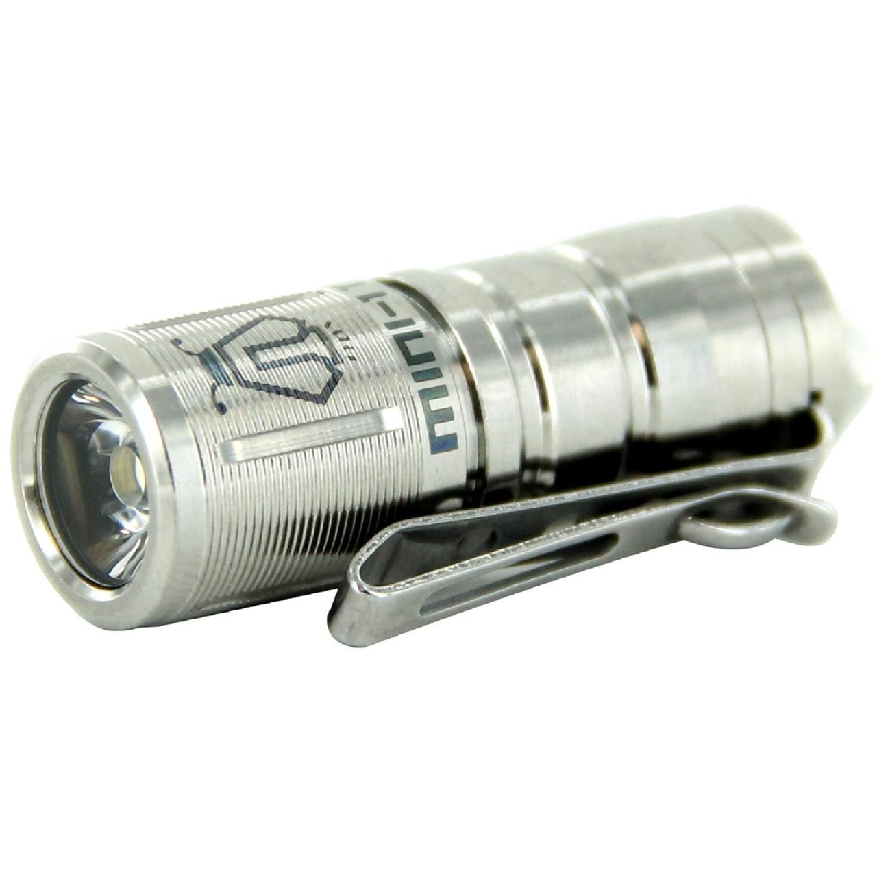 Jetbeam MINI-Ti Rechargeable Mini-Ti Flashlight Silver, UPC :6957883820901