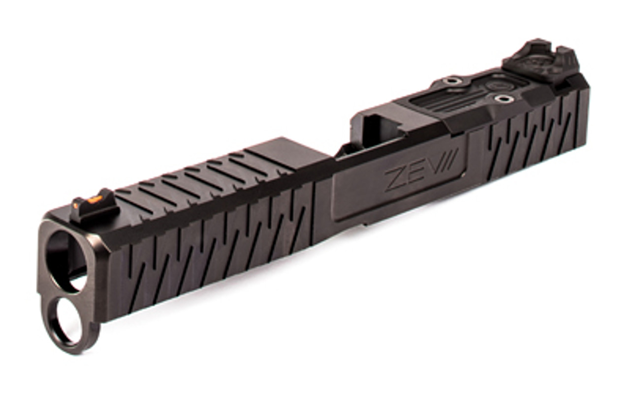 ZEV Technologies For Gen 4 Glock 19, Enhanced Socom, Complete Slide,  Includes Sights, RMR Cover Plate and Zev Upper Parts Kit, Black Finish