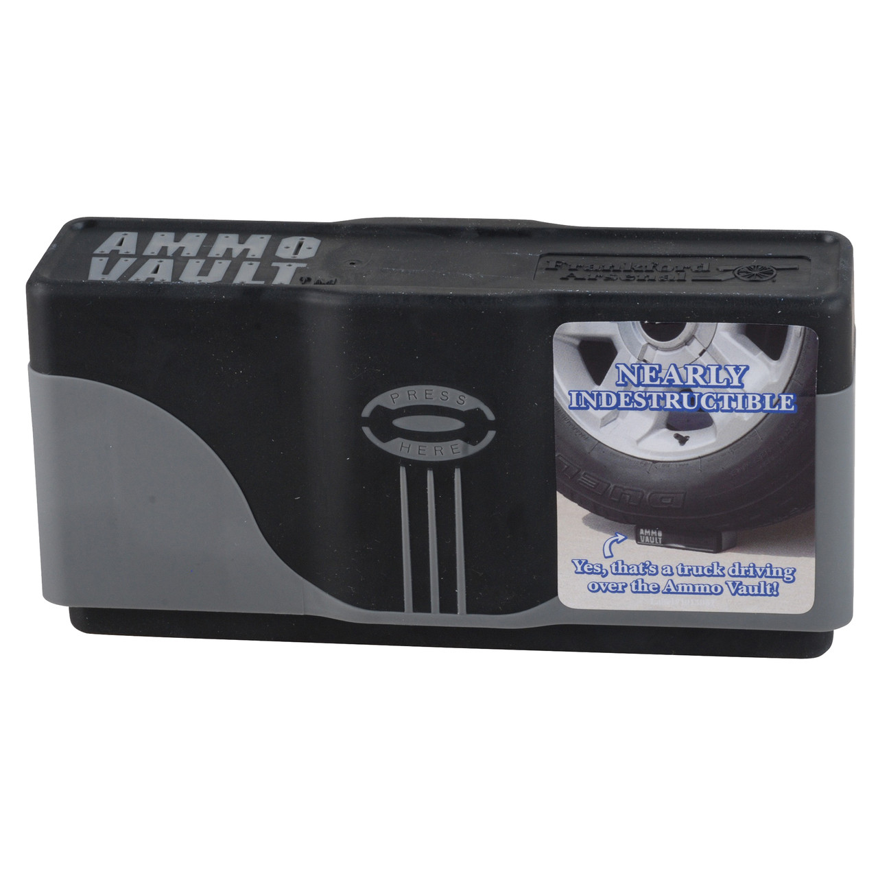 Frankford Arsenal Ammo Vault Slip-Top Locking Ammo Box #RMD-20 223  Remington, 308 Winchester, 30-06 Springfield 20-Round Plastic Gray and  Black, UPC