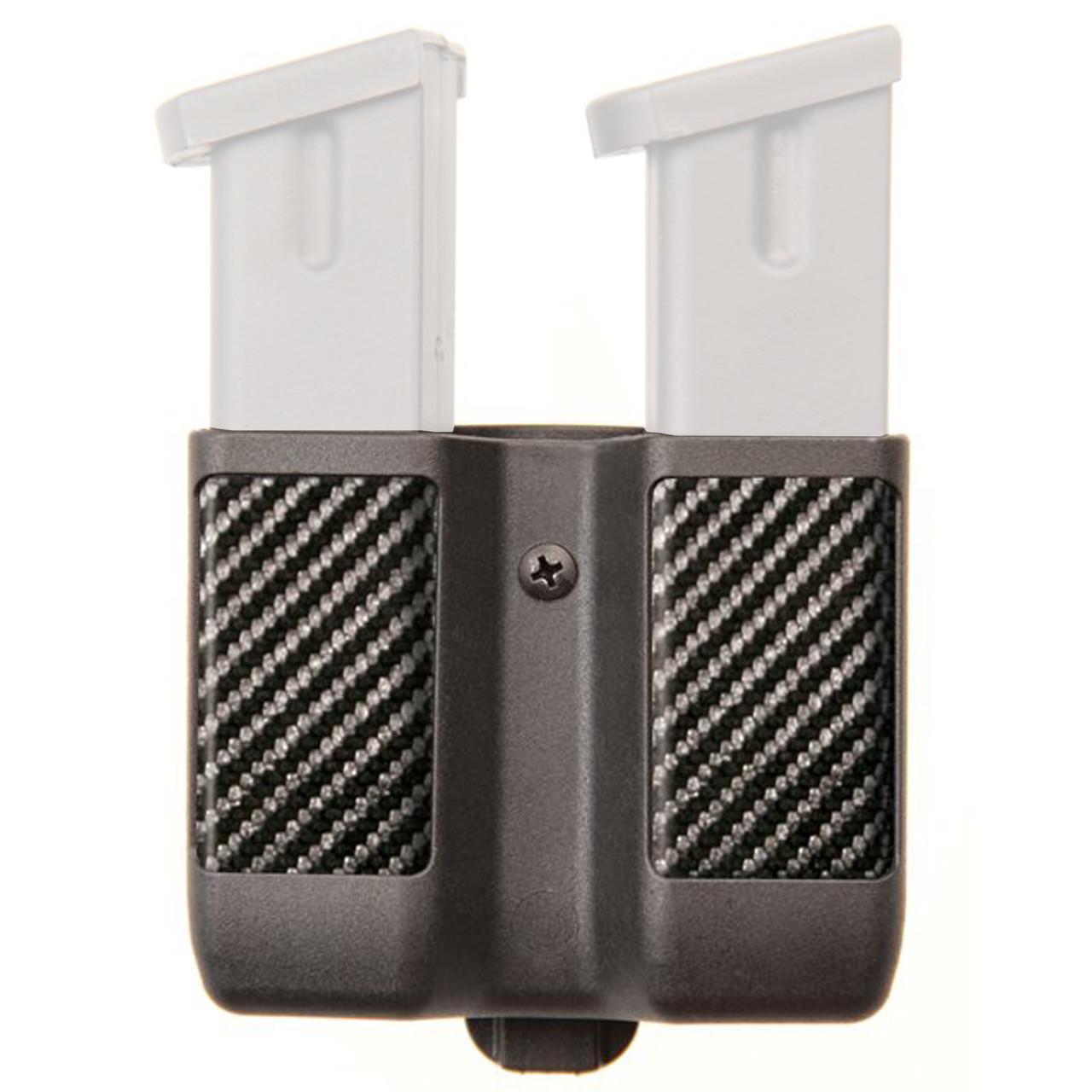BlackHawk Double Mag Case Double Stack CF 9mm//.40 cal Black Finish 410610CBK