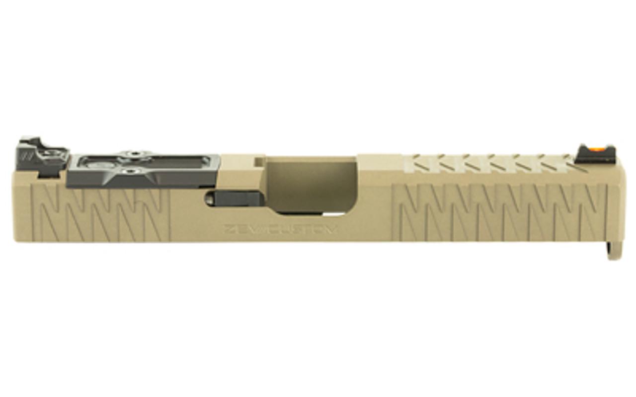 ZEV Technologies For Gen 3 Glock 17, Enhanced Socom, Complete Slide,  Includes Sights, Delta Point Pro Cover Plate and Zev Upper Parts Kit, Flat  Dark