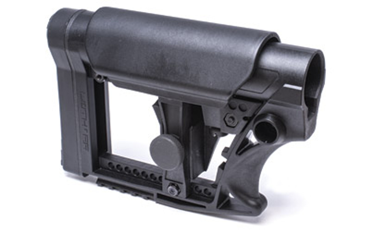 Luth-AR MBA-4 Carbine Stock with Cheek Riser,Fits AR-15 & AR-10 Commercial  and Mil-Spec Buffer Tubes, Black MBA-4-CHP, UPC :859819007027
