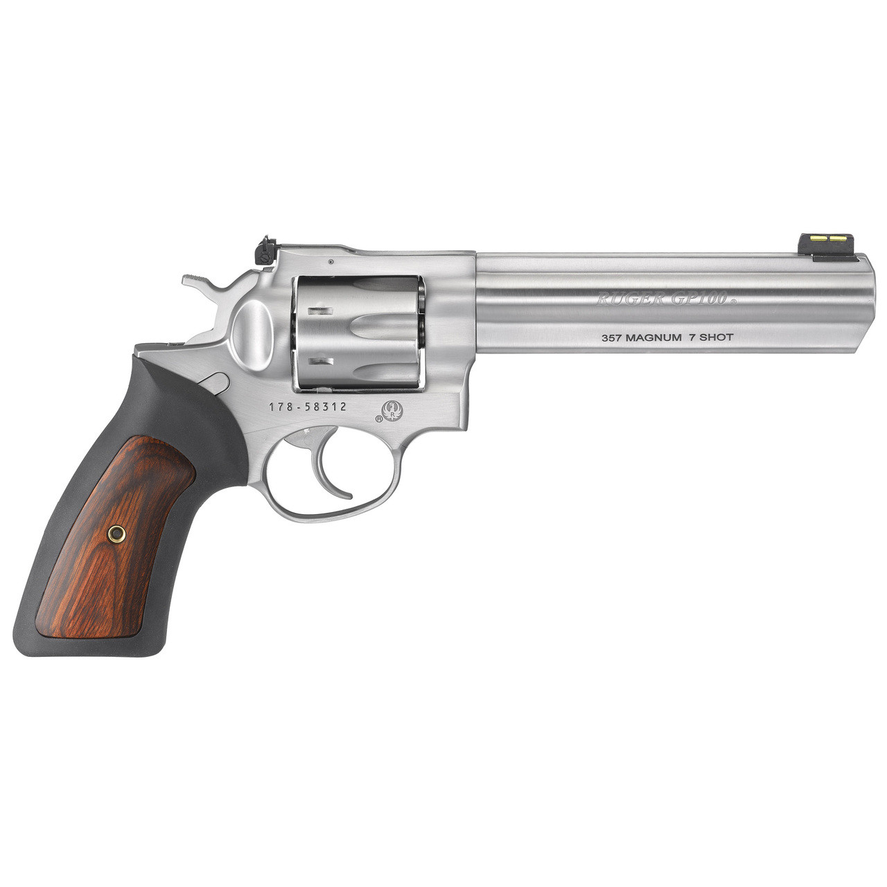 Ruger GP100, Double Action Revolver, 357 Magnum, 6
