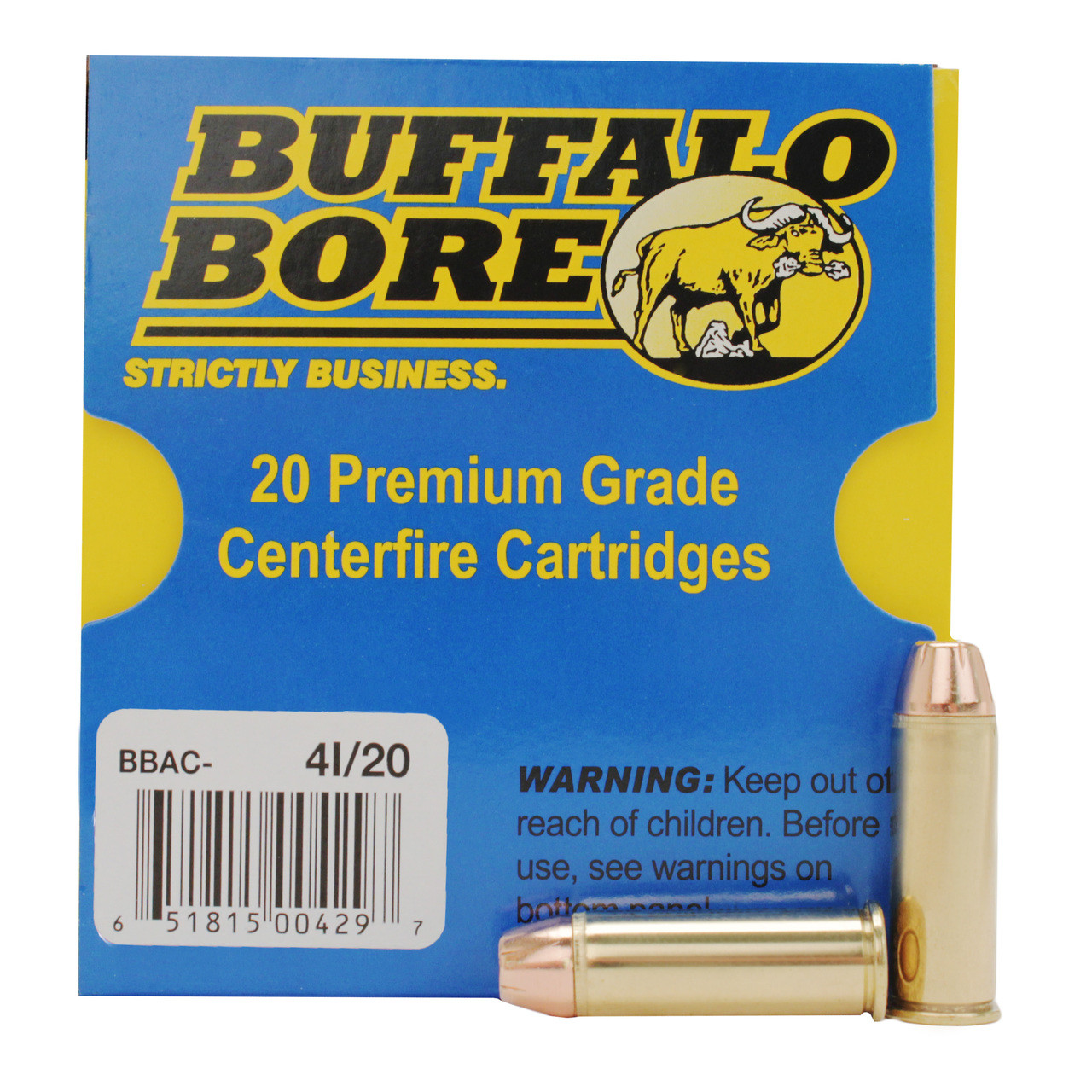 Buffalo Bore Ammunition 44 Remington Magnum 180 Grain Jacketed Hollow Point  Anti-Personnel Box of 20, UPC :651815004297