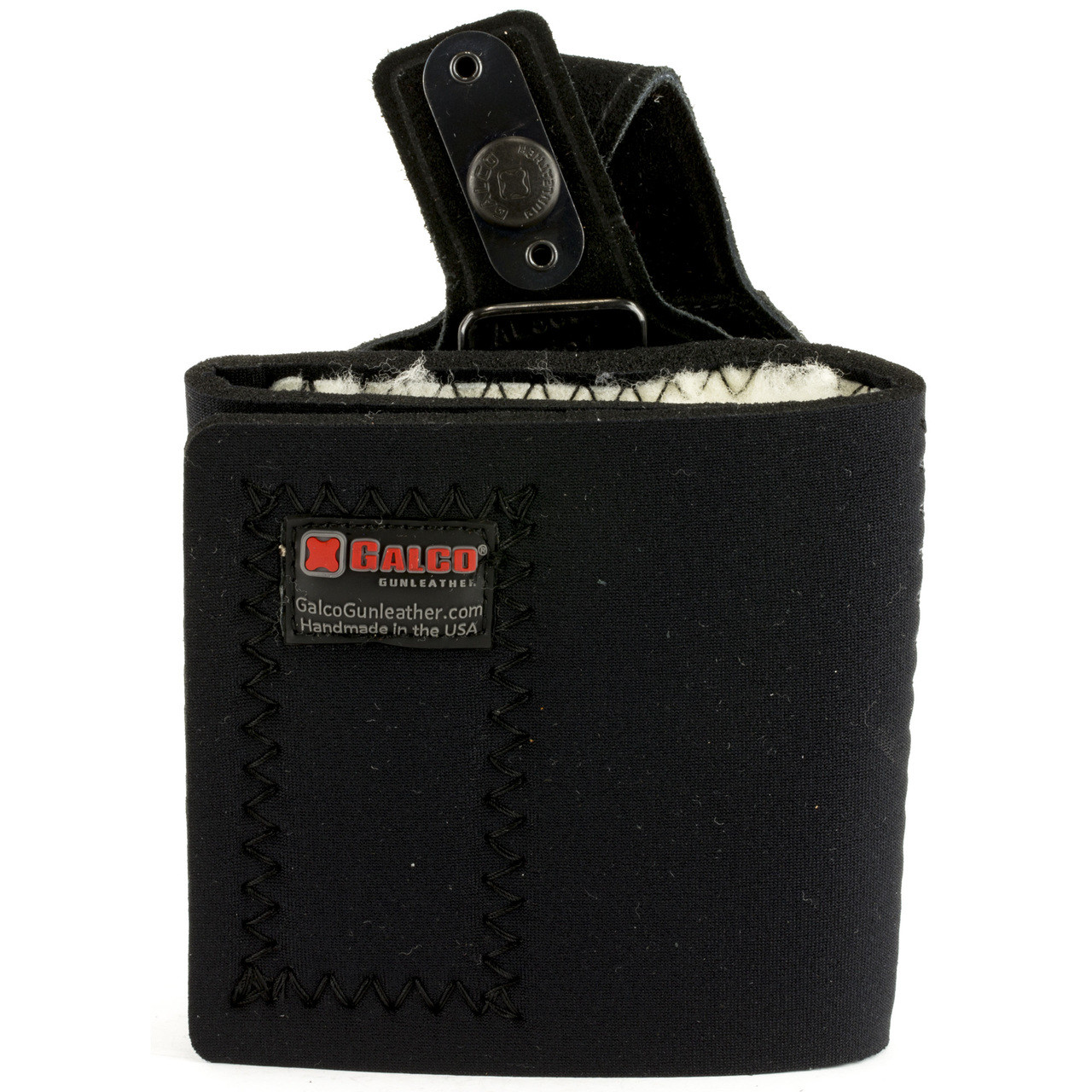 Galco Ankle Lite Ankle Holster, Fits Ruger LCR, Right Hand, Black Leather  AL300B, UPC :601299005426