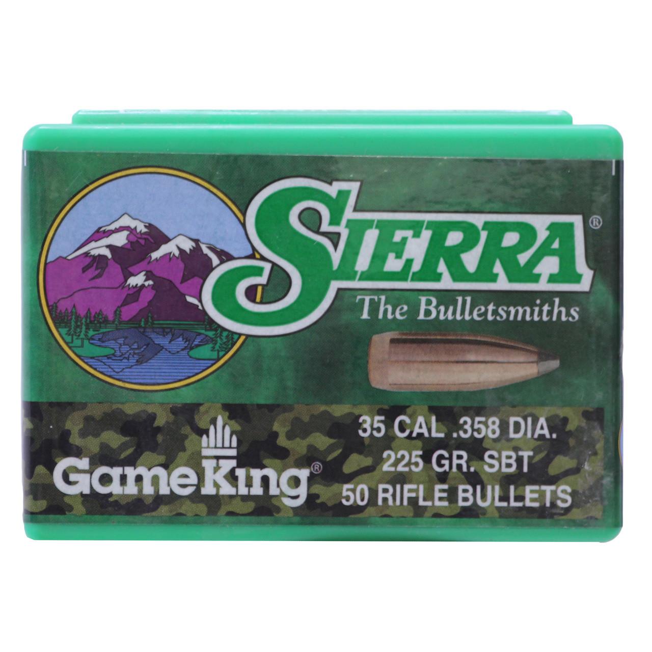 Sierra GameKing Bullets 35 Caliber (358 Diameter) 225 Grain Spitzer Boat  Tail Box of 50, UPC : 092763028506