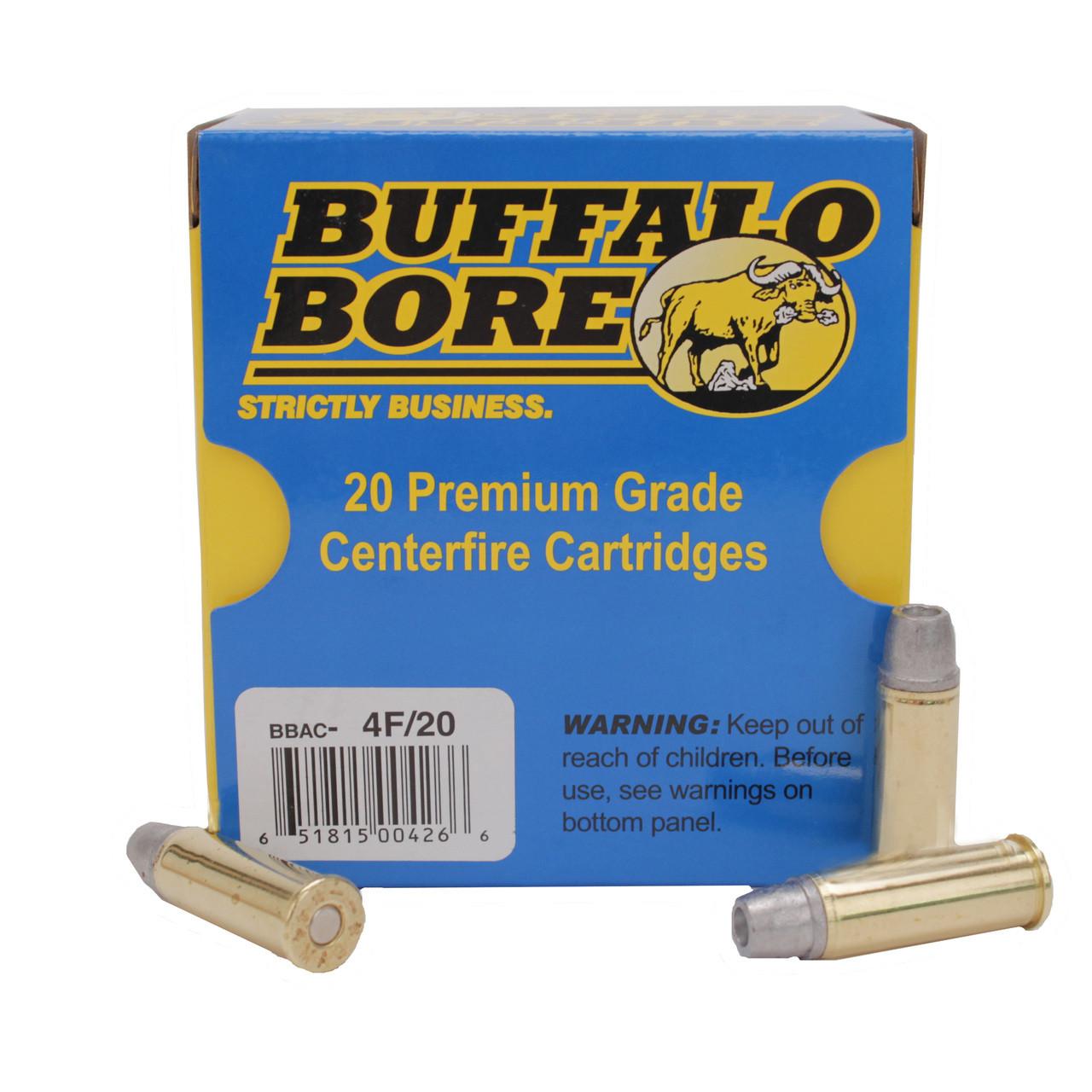 Buffalo Bore Ammunition 44 Remington Magnum +P 240 Grain Lead Soft Cast  Hollow Point Gas Check Deer Grenade Box of 20, UPC :651815004266