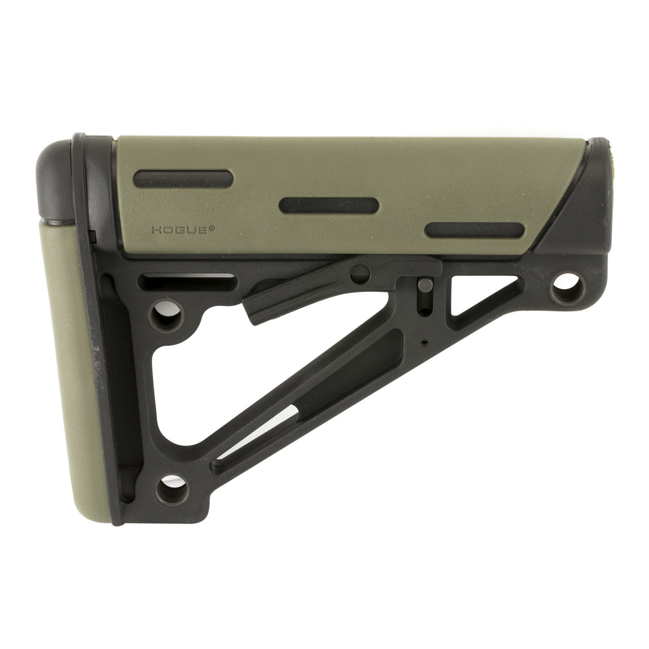 Hogue Grips Stock, Fits Mil-Spec Buffer Tube Only, AR15 6-Position Stock,  OD Green Finish 15240, UPC :743108152409