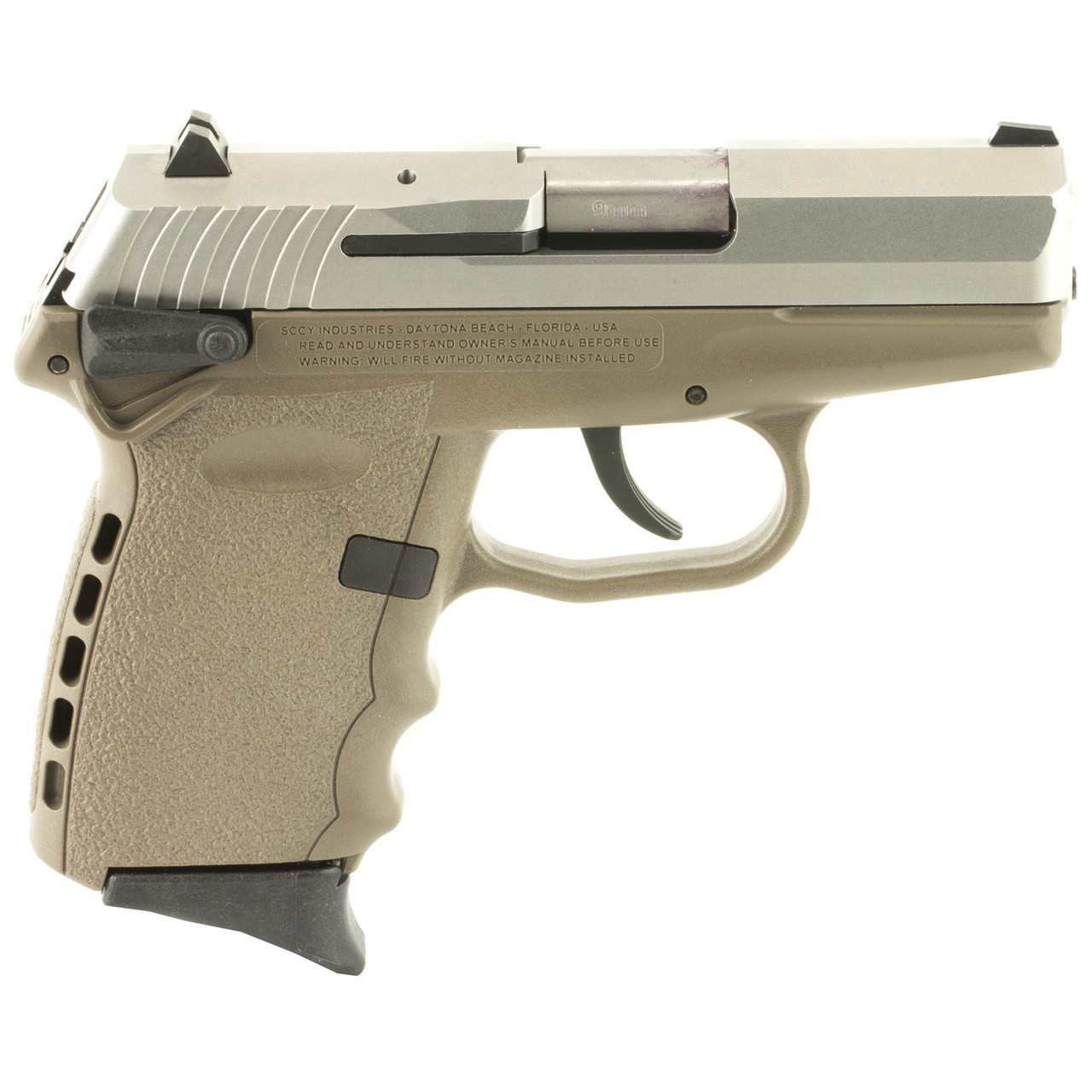 SCCY CPX-1, Double Action Only, Compact, 9MM, 3 1