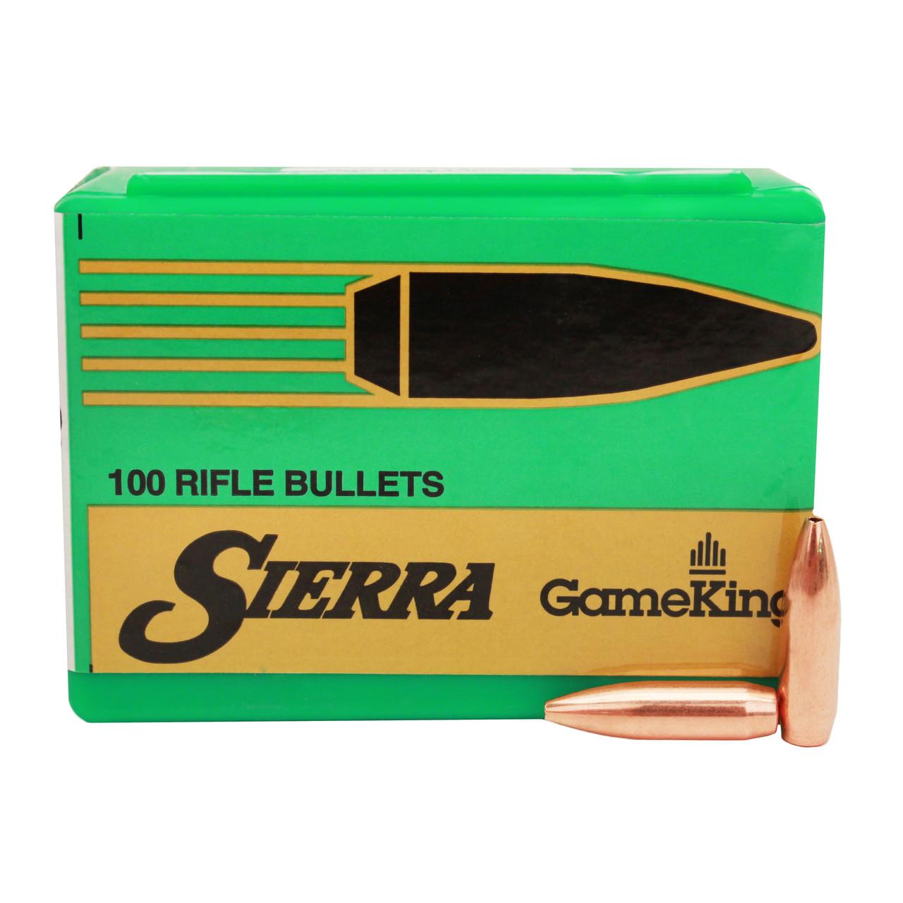 Sierra GameKing Bullets 243 Caliber, 6mm (243 Diameter) 85 Grain Hollow  Point Boat Tail Box of 100, UPC : 092763015308