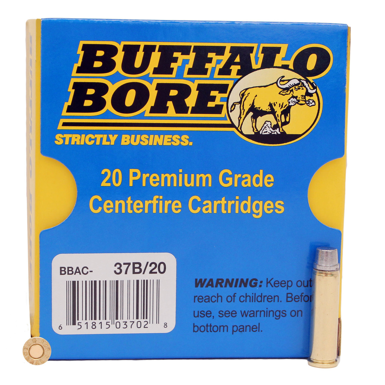 Buffalo Bore Ammunition Outdoorsman 327 Federal Magnum 130 Grain Hard Cast  Lead Semi-Wadcutter Box of 20, UPC :651815037028