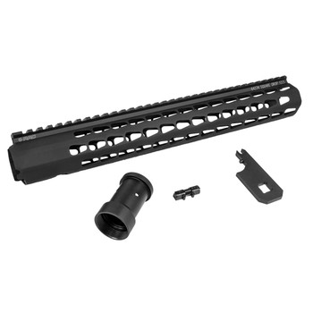 "Advanced Armament Corp Squaredrop 13.5"" Handguard, Black, Wrench Included, Squaredrop (Keymod), Fits AR-15 64274, UPC :847128011002"