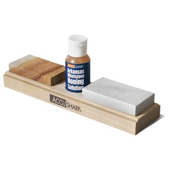 AccuSharp Whetstone Knife Sharpener Combo, Knife Sharpener Stones With Honing Oil 023C, UPC : 015896000232