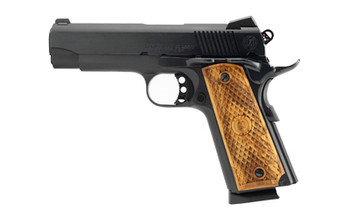 "American Classic 1911, Commander, 9MM, 4.25"" Barrel, Steel Blue Finish, Wood Grips, 3 Dot Sights, 9Rd, 1 Magazine ACC9B, UPC :728028236552"