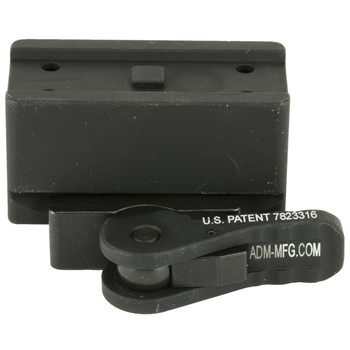 American Defense Mfg. Mount, Fits Aimpoint Micro T-1 & Vortex SPARC, Quick Release, Absolute Co-Witness Height, Black Finish AD-T1-10, UPC :818503010422