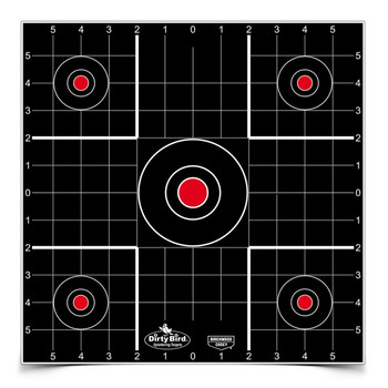 "Birchwood Casey Dirty Bird Target, Sight-In, 12"", 12 Targets 35212, UPC : 029057352122"