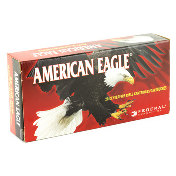 Federal American Eagle, 22-250, 50 Grain, Jacketed Hollow Point, 20 Round Box AE22250G, UPC : 029465063962