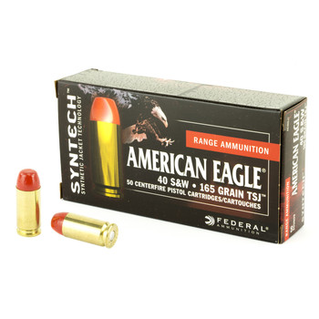 Federal Syntech Action Pistol, 40 S&W, 165 Grain, Total Synthetic Jacket, 50 Round Box AE40SJ1, UPC :604544617412