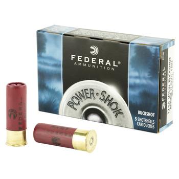 "Federal Classic 12 Gauge, 2.75"", 4 Buck, Max Dram, Buckshot, 27 Pellets,5 Round Box F1274B, UPC : 029465009762"