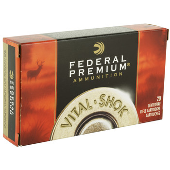 Federal Vital-Shok, 25-06REM, 117 Grain, Boat Tail, Soft Point, 20 Round Box P2506C, UPC : 029465084462