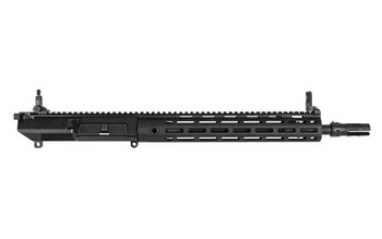 "Knights Armament Company SR-25, Combat Carbine Upper Receiver, 308 Win/762NATO, Black Finish, 14.5"" Lightweight Barrel, 3-Prong QDC Flash Hider, 13.5 URX4 MLOK Handguard, Micro Front Sight, Micro 600m Rear Sight, SR-25 Buffer, SR-25 Action Spring 111"