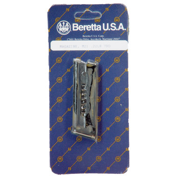 Beretta Magazine, 22LR, 7Rd, Fits Model 21, Blue Finish JM21, UPC : 082442012452