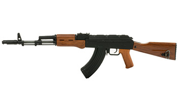 Advanced Technology AK-47 Non-Firing Mini Replica, 1/3 Scale, Functioning Features Include: Charge Handle, Removable Dust Cover, Trigger, Firing Modes, Fixed Stock, Adjustable Sights, Removable Mag with Three Brass Rounds, Removable Cleaning Rod, Mag