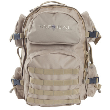 "Allen Intercept Tactical Pack, Tan EnduraFabric 18.5""x16""x10"", 2500 Cubic Inch, Hydration Compatable,Compression Straps, Padded Shoulder Straps With Adjustable Sternum Strap, Internal Organizer Compartments, Side Carrying Handles 10858, UPC : 0265090"