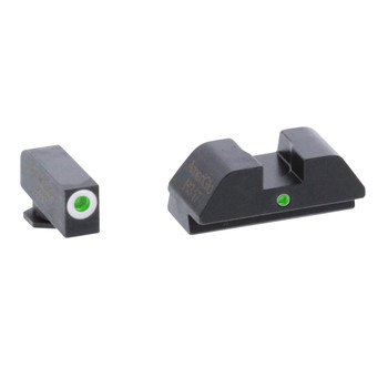 AmeriGlo I-Dot, Sight, Fits Glock 42 and 43, Green Tritium White Outline Front with Green Rear GL-105, UPC :644406909262