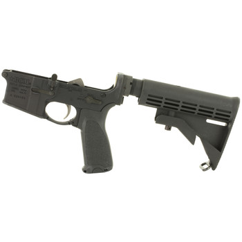 Bravo Company Semi-automatic Complete Lower Receiver, AR, 223 Rem/556NATO, Black Finish, BCM M4 Milspec Stock Gen 2, Fire Controls Marked SAFE and SEMI, BCMGUNFIGHTER Enhanced Trigger Guard, BCMGUNFIGHTER QD End Plate, BCMGUNFIGHTER Pistol Grip LRG-S