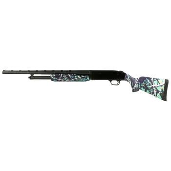 "Mossberg 500 Super Bantam, Pump Action Shotgun, 20 Gauge 3"" Chamber, 22"" Vent Rib Barrel, Muddy Girl Serenity Pink Camo Finish, Synthetic Stock, AccuSet Choke, Bead Sight, 5Rd 54160, UPC : 015813541602"