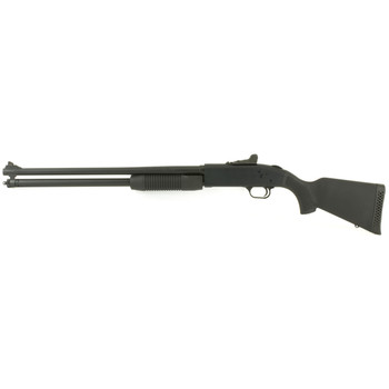 "Mossberg 500, Pump, 20Ga 3"", 20"", Black, Synthetic, Right Hand, 3"" Chamber, Cylinder Bore, 7Rd, Ghost Ring - Fiber Optic Front 54300, UPC : 015813543002"