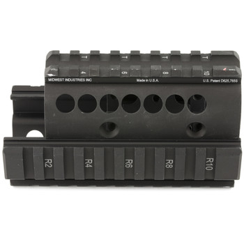 Midwest Industries Forearm for Bulgarian Krinkov, 4-Rail Handguard, Black MI-AK-K, UPC :816537012542