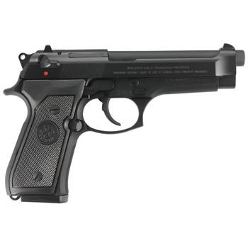 """Beretta 92FS, Semi-Automatic, 22LR, 5.3"""" Barrel, Steel Frame, Black Finish, 3 Dot Sight, 15 Rounds, 1 Magazine J90A1M9A1F19, UPC : 082442736372"""