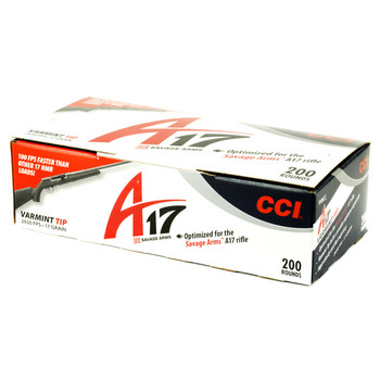 CCI/Speer A17, 17HMR, 17 Grain, V-Max, 200 Round Box 949CC, UPC :604544610642