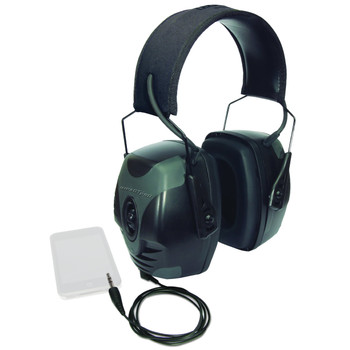Howard Leight Impact Pro Earmuff, Black, Electric, NRR 30, AUX Cord R-01902, UPC : 033552019022